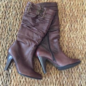 ALDO boots. Leather. Chocolate Brown. Size 41